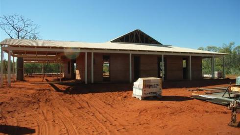 A rammed earth house in Derby in Western Australia (Daniela Ciancio)