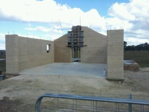 Rammed Earth is load bearing