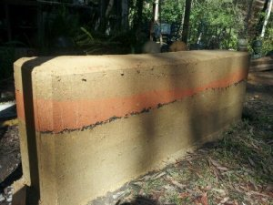 Rammed Earth Garden Wall constructed during last years EBAA conference